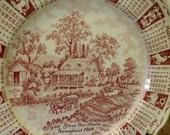 1969 Alfred Meakin Calendar Plate