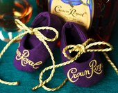Crown Royal Baby Booties-Made to order out of actual Crown Royal bags- custom