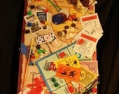 Monopoly Risk Games Story Board - Found Item / Object Assemblage Wall Hanging