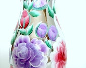 Selling a Hand Painted Vase with Lavender Roses