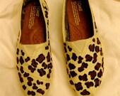 Women's & Children's Handpainted Leopard Print TOMS