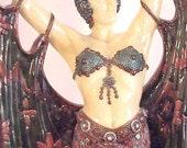 "French Art Deco, Erte/Moreau Lamp- Egyptian Revival, Harem Dancer Torch Lamp - Exquisite & Dramatic, 32""T"