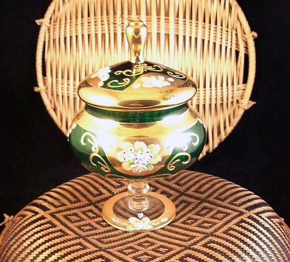 Pebble Beach Polo >> Seyei Victorian Glass Covered Compote Candy Dish Footed