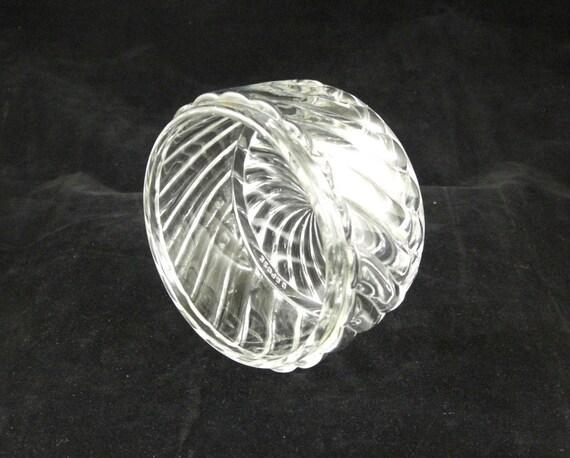 SALE Antique Baccarat Depose Crystal Jar Dish Bowl Bambous Tors Swirl 1870-1914 Caviar Condiment Dresser