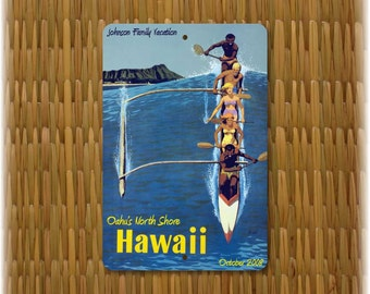 """Personalized  Hawaii Vintage Travel Sign (12"""" x 8"""")"""