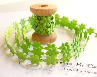 """1yd Green Flower Lace -1/4"""" width"""
