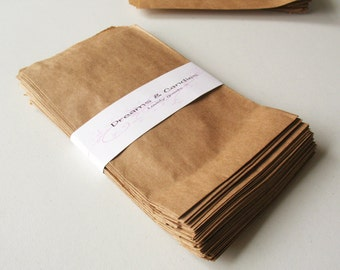 "100- 5 x 7""  Kraft Paper Bags for decorate, stamp, gift bags, envelopes, party favors, and many more"