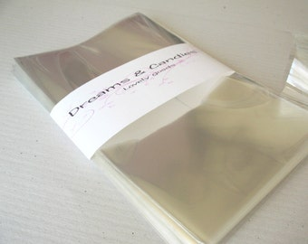 25- 4 x 6 Clear Cello Bags -Transparent Cello Bags -Food Safe Cello Bags -Clear Cellophane Bags -Food Safe Bags