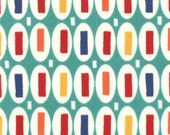 END Of BOLT, 38 inches, Pezzy Print in Aqua By American Jane for MODA