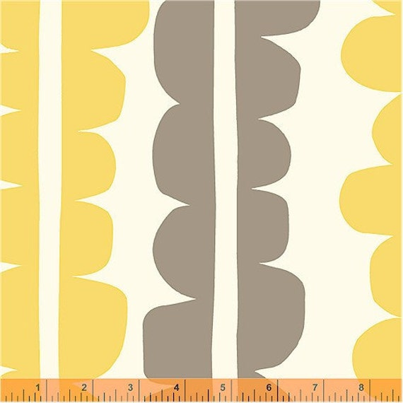 Echo, Choma Golden Rod Fabric by Lotta Jansdotter for Windham Fabrics, One Yard, 1 Yard