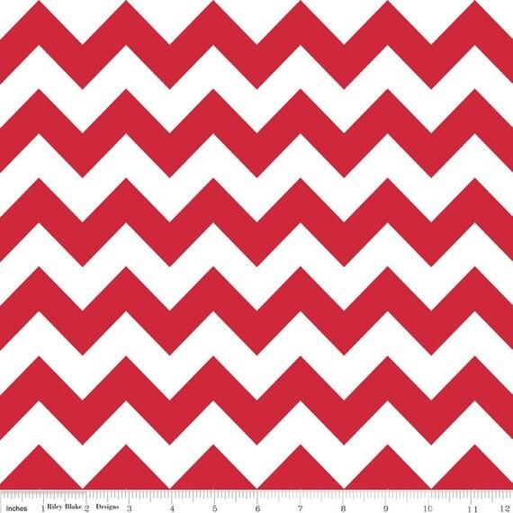 Red Chevron, Medium, Riley Blake Designers, RBD, Fabric, 1 Yard, One Yard