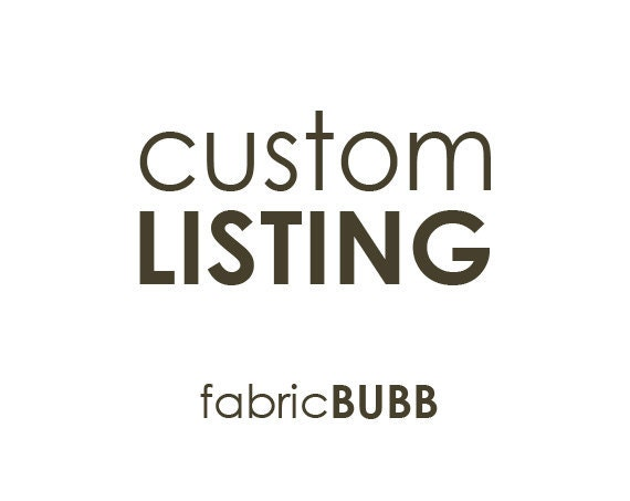 Custom Listing for Monique