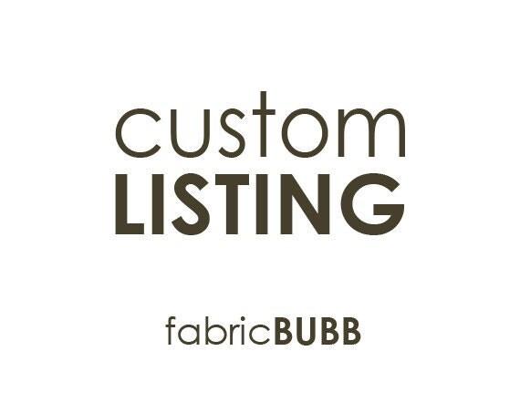 Custom Listing for Kelli