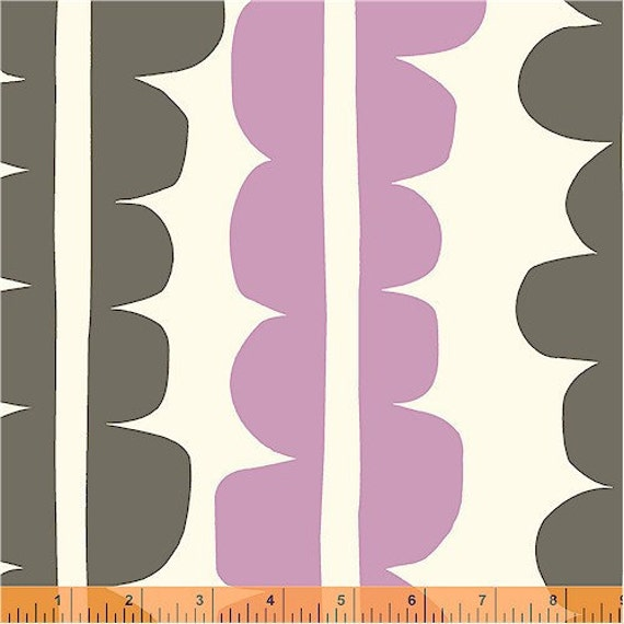 END OF BOLT, 24 inches, Echo, Choma Azalea Fabric by Lotta Jansdotter for Windham Fabrics