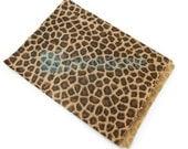 100pcs - 8.5x11 Leopard Animal Print Paper Merchandise Bags - Wholesale Paper Bags - Wedding Favor Bags - Retail Bags