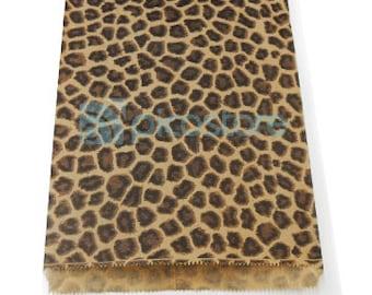 300pcs - 8.5x11 Leopard Animal Print Paper Merchandise Bags - Wholesale Paper Bags - Wedding Favor Bags - Retail Bags