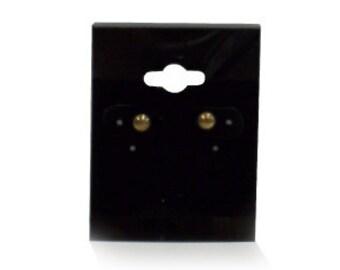 200pcs - Earring Hanging Card w/ Black Velvet Center 1.5x2