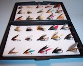 Ideal Gift For Any Angler Boxed Set Of  30 Assorted Wet TROUT Fishing  Flies From FLYMAKERS
