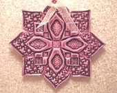 Bright Purple Mandala Polymer Clay Ornament