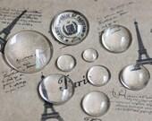 20pcs 18MM transparent round shape glass cabochon,pendant setting cabochon 4110009-5