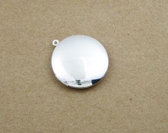 wholesale 5pcs 20MM vintage brass silver locket pendant,photolocket,round locket,photo locket 1112005