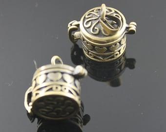 wholesale 5pcs vintage brass bronze locket pendant,vintage prayer box 1161001