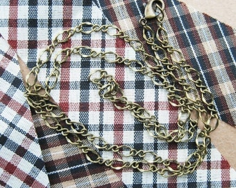 5Pcs 45CM Vintage bronze brass O chain necklace,vintage necklace,bronze necklace,brass necklace 1321003