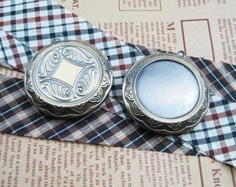 wholesale 5pcs 30mm setting size vintage brass bronze locket pendant,photolocket,round locket,photo locket1111010