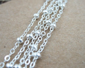 10M silver plated O chain,silver beads chain,silver necklace,bracelet chain 1312014