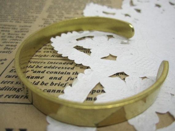 2pcs 8MM width vintage brass bracelet blank,original raw brass braclet cuff 1900011