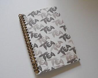TEA JOURNAL exclusive design - side spiral bound cream cover