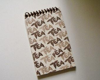 TEA JOURNAL exclusive design - top spiral bound cream cover