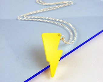 Acrylic Lightning Bolt necklace