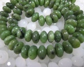Canadian Jade Smooth Rondell Bead 8x5mm 15.5 inch Strand