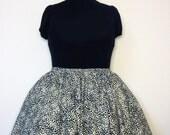Black and White Leopard Print Skirt