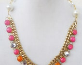 Funky Neon Necklace for spring summer