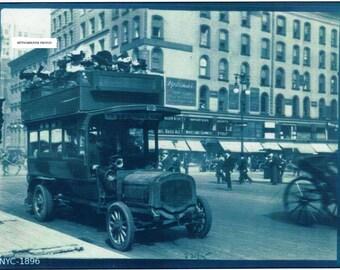 New York City 1896  - Photo Print
