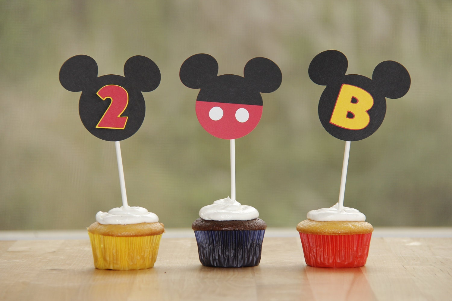 Mickey Mouse Cupcake ToppersMickey Mouse Cupcake Toppers