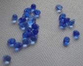 25 - 5 mm Czech Glass Baby Tear Drop Beads Smooth Transparent Saphire Blue