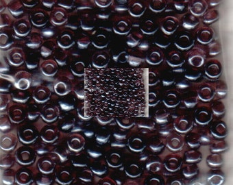 Czech Seed Beads 6/0 Glossy Purple Spacer Beads 12 grams loose approx 180