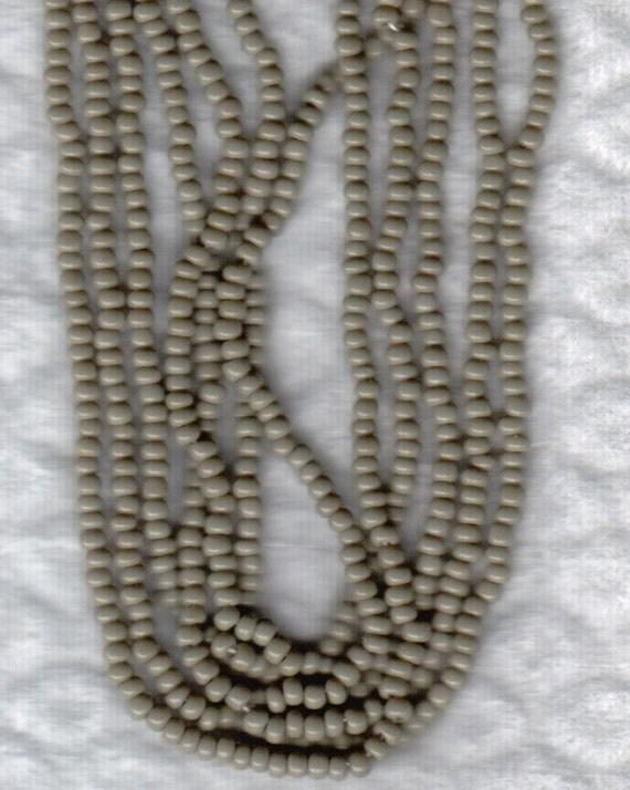 Czech Seed Beads Glass 10/0 Opaque Grey 3 Strands approx 1000