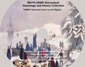 MAYFLOWER Pilgrim Descendant Genealogy and History Collection on CD