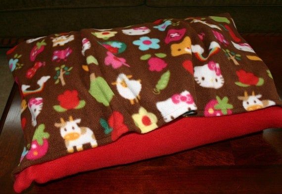Hello Kitty Pet Bed - Bella Pet Bed Cover for Dog or Cat - Machine Washable - FREE Shipping Fleece Burrow Snuggle Bed Cover - bellapetbeds