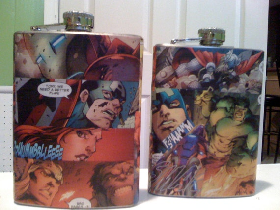 The Avengers Flask