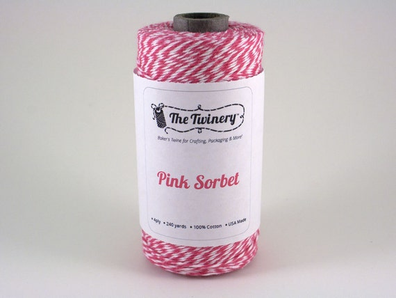 Pink Sorbet Bakers Twine 240 Yards Full Spool The Twinery