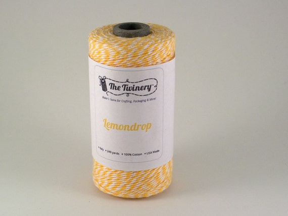 Lemondrop Marigold Yellow Bakers Twine 240 Yards Full Spool The Twinery
