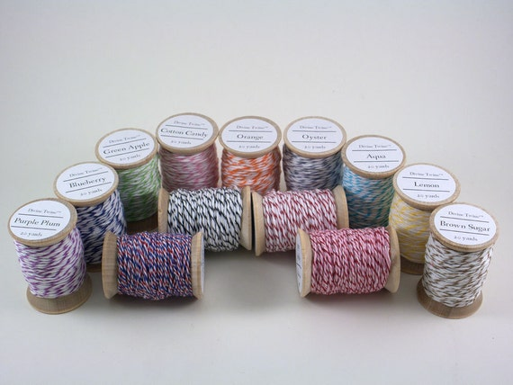 Bakers Twine Divine Twine 260 yards 13 colors Wooden Spools 20 yards each