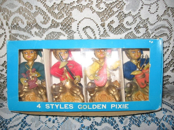 Vintage Pixie Elves set of four
