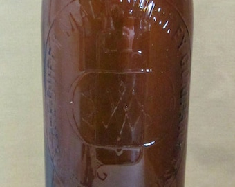 Late 19th C. Duffy malt Whisky Bottle- Amber Color- Non Dug