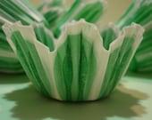 Mini Cupcake Liners Green Tulip  Baking Cups 150